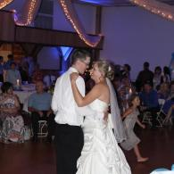 Perfect photo of the bride & groom's first dance.