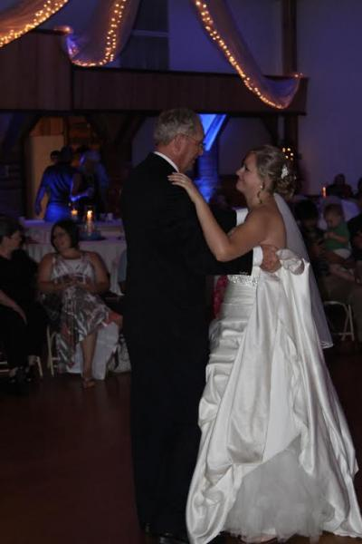 Beautiful bride dancing with her father.