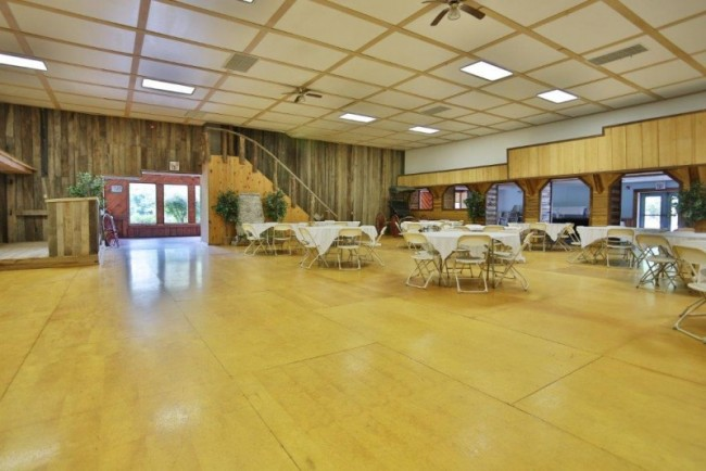Plenty of room here to hold your wedding reception.